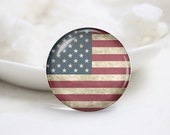 Handmade Round The Old Glory Photo Glass Cabochons (P3661)