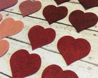 Heart•Wool•Felt•Cut Outs•Set•24
