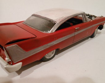 Rusted Wreck,JunkYard, Scale Model, Red Plymouth, Christine Car,Rat Rod,BarnFind,MovieModelCar