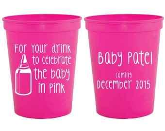 Baby Shower Party Cups, Baby Shower Favors, Gender Reveal Favors, Diaper Party Favor, Gender Reveal Party Gift, Gender Reveal, 1284
