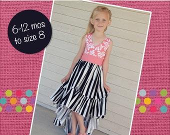 Hope's Hi-Low Dress PDF Pattern Sizes 6/12m to 8 Girls