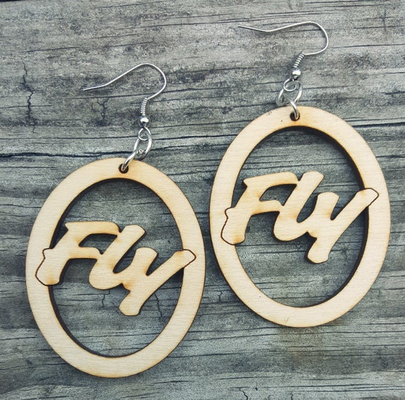 Fly Wooden Earrings