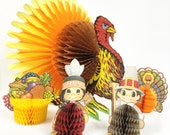 Beistle Honeycomb Thanksgiving Table Centerpiece Decorations Turkey 5 pcs