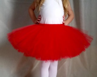 Red Tutu | Valentines Day | Holiday | Christmas | Baby Toddler Tutu | Phot Prop Tutu  | Baby Gift | Birthday Party | Baby Shower | Halloween