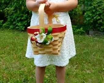 Flowergirl basket Red Apple Wedding