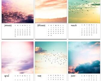 2017 calendar nature calendar desk calendar with easel photography calendar with stand sunset photography calendar abstract pink blue gold