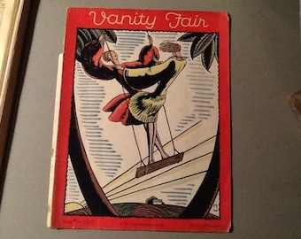 1927 VANITY FAIR cover -completely original