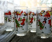 M. Dia Winter of 76' Tumblers Set of four 4