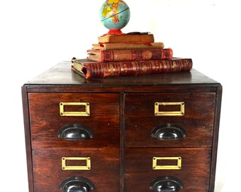 Antique  file cabinet - 4 drawers