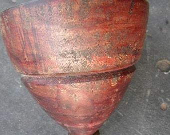 nice shape vintage antique huge large wooden wood SPINNING TOP TOY