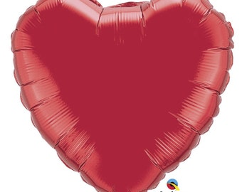 "4"" Preinflated Metallic Heart Balloons - A set of 16 balloons"