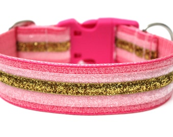 "Glitter Dog Collar 1.5"" Large Dog Collar"
