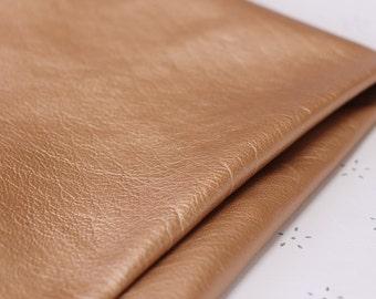Pale Copper  Genuine Leather , Rose Gold, Lambskin
