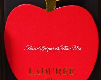 Macaron, Macarons,Macaroons, Laduree, Food Photography, Red Apple, Sweets,Bakery,Pastry, Kitchen, Fashion, Red & Black, Dorm Decor, Parisian
