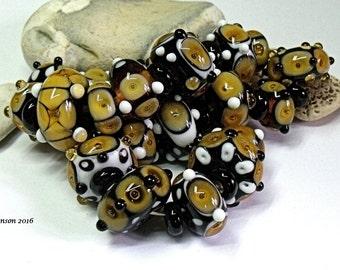 Tudor Amber, Lampwork Beads, SRA, UK