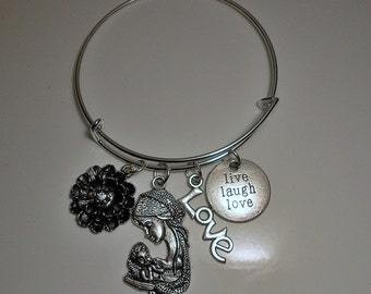 Mother and Child Mother's Day Birthday Bracelet