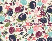 Riley Blake Designs Posy Garden - Main Cream Yardage( 3 or more yards)
