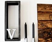 Wood Rectangle Shelf Distressed Decor - 1pc