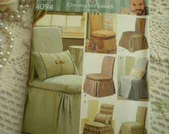 SALE...Simplicity 4094 Designer Christopher Lowell Chair Cover Pattern Circa 2006 Uncut From SincerelyRaven On Etsy