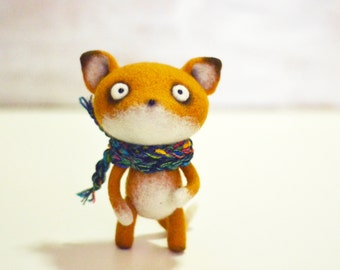 Handmade toys - Felt doll - Toy - Felt toys - Needle felting - Felt animal - Gifts for her - gifts for men - Fox - Toys - Personalised gifts