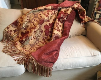 Moroccan Throw, Tribal, Exotic Old World, Ethnic Blanket, Ancient Design, Tapestry Wall Hanging African Art Tuscan Sun Designer Bedding OOAK