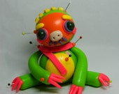 Ezzy from Freezington Alley. Sloth Voodoo Doll. Hand Sculpted Polymer Clay Figurine