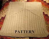 Knitting Pattern: Chunky Yarn Knit Baby Blanket with Angel Wings