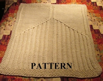 Knit Baby Blanket Pattern, Knitting Pattern, Cable Knit, Aran Knit, Chunky Yarn, Knitting Chart Included, **Instant Download**