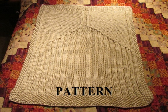 Knitting Pattern For Angel Blanket : Knit Baby Blanket Pattern Knitting Pattern Cable Knit Aran