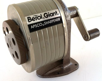 Vintage Berol Giant Pencil Sharpener Excellent Condition Office Industrial Desk Set Wall Mount Nice!