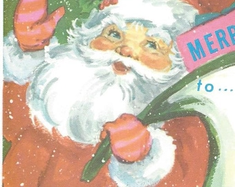 Great Lot of 3 Vintage 1960s SANTA CHRISTMAS Postcards - 50+ Year Old - Mid Century- Mod - Retro - Modern - Groovy - PC