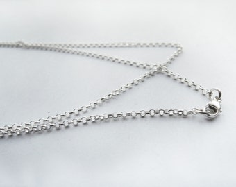 Finished Rolo Sterling Silver Chain 1.8 mm - Made to Order