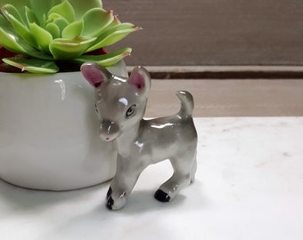 Vintage Hand Painted Porcelain Donkey Jack Ass Burro Burrow Figurine Knick Knack, Made in Japan