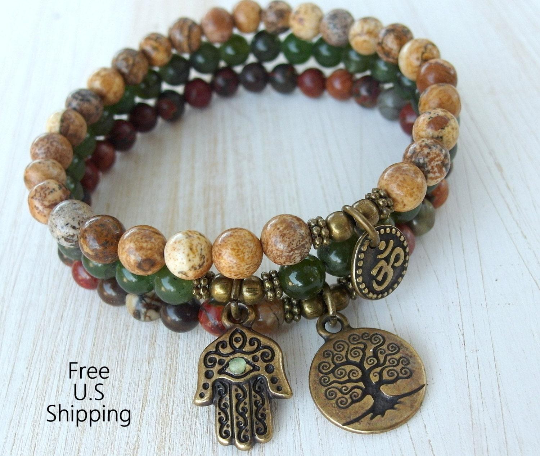 Yoga Beads: Yoga Stack Yoga Set Of 3 Mala Bracelets Yoga Bracelets