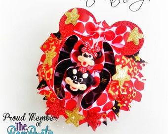 Handmade  bow barrette clip Princess