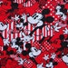 2177 - 155cmx47cm Cotton Poplin  fabric - Mickey mouse printed for patchwork, textile, cloth.