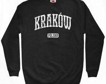 Krakow Poland Sweatshirt - Men S M L XL 2x 3x - Krakow Shirt - Polish, Polska - 4 Colors