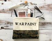 War Paint Makeup Bag in Camo