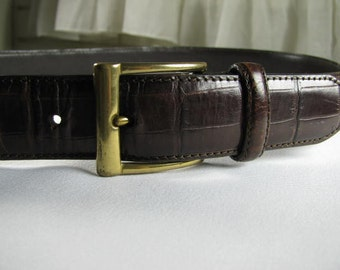 Vintage Eddie Bauer Italian made leather belt size 32