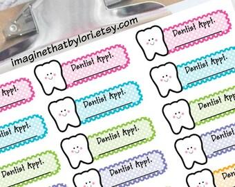 Dentist Appointment Planner Sticker for your Erin Condren Planner