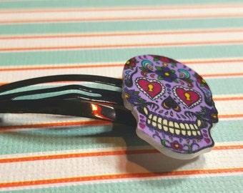 Rockabilly Sugar Skull Hair Clip (1 pc)