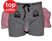 Christmas gift, Elephant underwear,  Elephant boxer, Novelty gift, Funny Underwear, boyfriend gift, funny gift, ugly christmas sweater