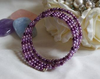 Pearl Bangle - Purple