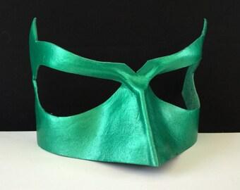 Green Lantern Mask Leather Green Arrow mask Poison Ivy Cosplay DC Comics Justice League Superhero costume Super hero mask Comicon Halloween