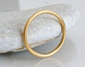 18k gold wedding ring, 1.5mm gold halo ring, solid gold wedding band, slim gold ring, skinny wedding ring, simple gold band