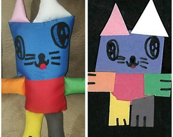 Custom Plush Toy - Softie - made from your child's drawing or photo-drawing come to life