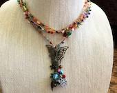 Butterfly Garden: Versatile crocheted necklace / bracelet / belt / headband
