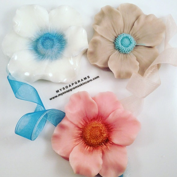 Flowers For Bridal Shower Favors : Anemone wedding soap favors bridal shower flower