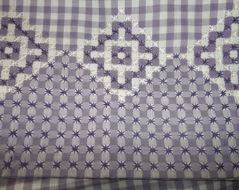 """2 VINTAGE Pillow Cases..NEW Condition...20"""" by 32""""...Hand Made..SWISS Hardanger Embroidery"""