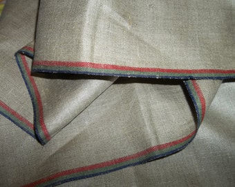 "Vintage Linen Towel MANGLECLOTH Yardage..Great Quality... Texture...RARE Color...French Kitchen...35""by 95"" Free Shipping"